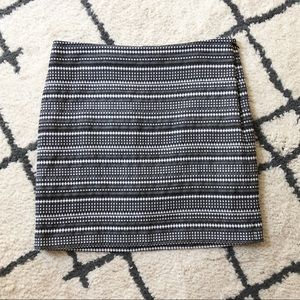 The Limited black and white patterned mini skirt